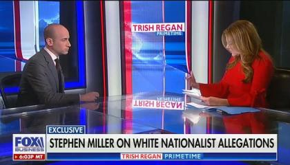 On Fox Business, Trump senior adviser Stephen Miller defends his white nationalist emails