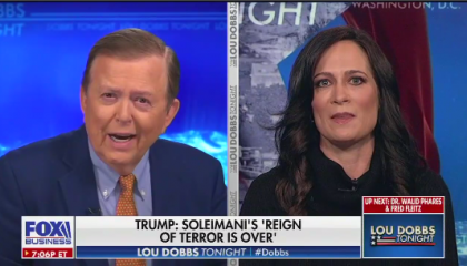 Lou Dobbs and Stephanie Grisham
