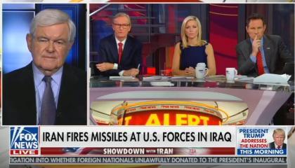 Fox's Newt Gingrich calls for regime change in Iran