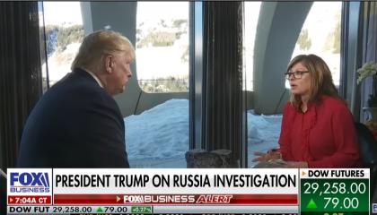 Maria Bartiromo interviews Donald Trump