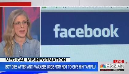 MSNBC's Brandy Zadrony explains Facebook's role in enabling healthcare misinformation on MSNBC Live with Craig Melvin