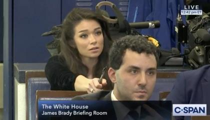 Chanel Rion White House press briefing room