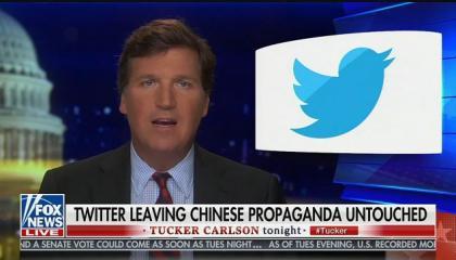 Tucker Carlson attacks Twitter for cracking down on coronavirus misinformation