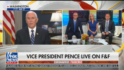 Mike Pence Coronavirus on Fox and Friends