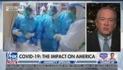 Mike Huckabee speculates coronavirus is a bioweapon