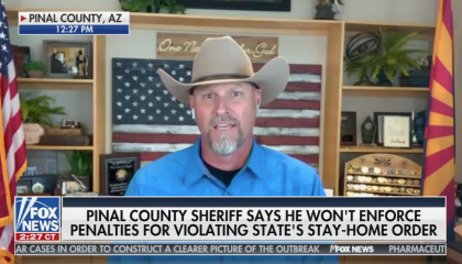 Fox News interviews Arizona sheriff who won't enforce social distancing orders
