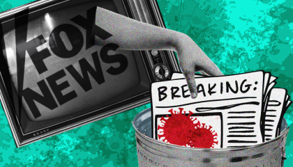 Fox News Coronavirus decline of coverage