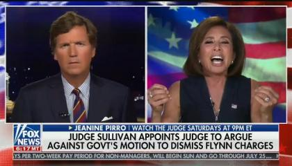 "Fox's Pirro: The judge in Gen. Michael Flynn's case ""needs to recuse himself, he should be embarrassed to put a robe on"""