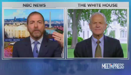 "NBC's Chuck Todd lets WH trade adviser refer to coronavirus as the ""China virus"" without interruption"