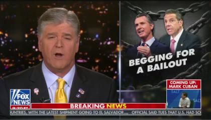 Sean Hannity hosts Hannity on Fox News