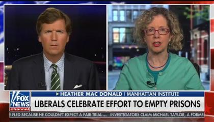 """Fox guest: Liberals are releasing convicts because they have """"a deep hatred of American freedom, of prosperity, of capitalism, of law-abiding, bourgeois values"""""""