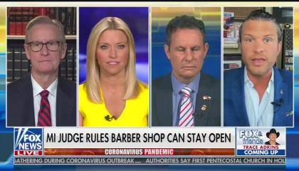 Pete Hegseth and the hosts of Fox & Friends' weekday editions