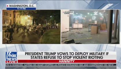 Sean Hannity hosts Hannity on Fox
