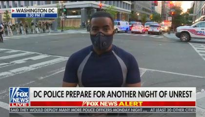 """Fox News reporter says protesters were """"ushered"""" out of Lafayette Park"""