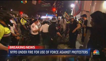 NBC covering police violence from NYPD