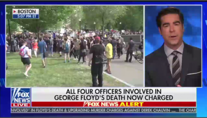 Jesse Watters discusses the death of George Floyd on Fox's The Five