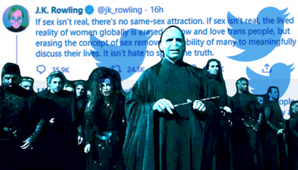 J.K. Rowling's tweets next to deatheaters