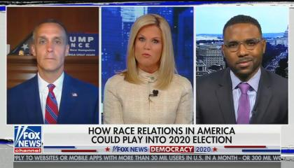"""chyron reads: """"How race relations in America could play into 2020 election"""""""
