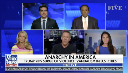 Greg Gutfeld hosts The Five on Fox News