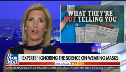 "chyron reads: ""Experts"" ignoring the science on wearing masks"