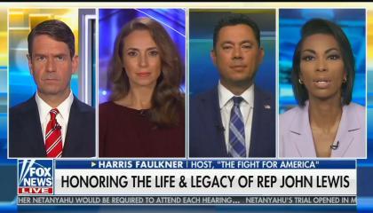 Fox's Griff Jenkins, Jedediah Bila, Jason Chaffetz, and Harris Faulkner