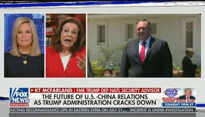 """Fox's K.T. McFarland says China """"unleashed a bioweapon onto the world"""""""