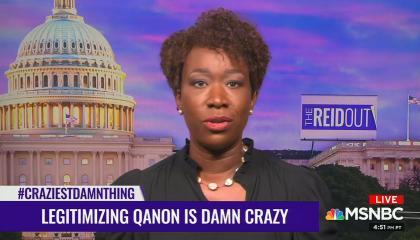 "chryon reads: ""Legitimizing QAnon is damn crazy"""