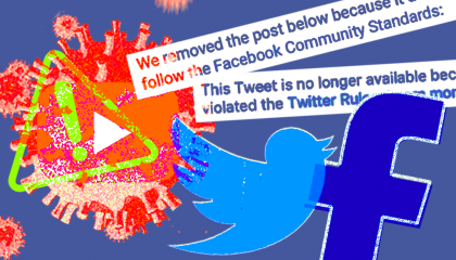 Facebook Twitter coronavirus conspiracy theory video