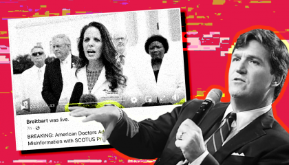 "Tucker Carlson's coverage of Breitbart's ""Frontline Doctors"" video"