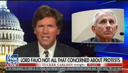 Tucker Carlson launches bizarre attack on Dr. Fauci, claims he'd push to reopen the economy if he had 22-year-old children