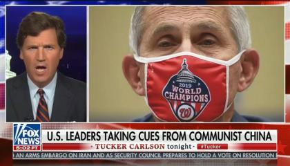 "Tucker Carlson attacks Dr. Fauci for ""authoritarian"" pandemic response guidelines"