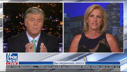 Laura Ingraham and Sean Hannity