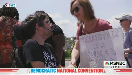 Watch Ady Barkan's speech on the urgent need for universal healthcare that Fox News and CBS refused to air