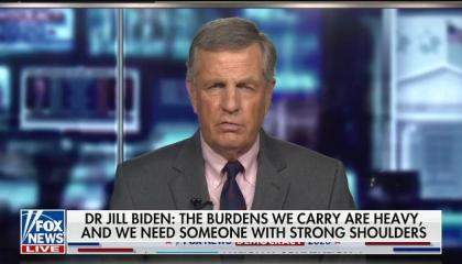 "Fox's Brit Hume: Jill Biden's speech ""didn't have the hard angry edge that we heard last night"" from Michelle Obama"