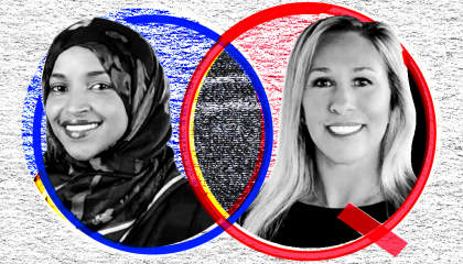 Ilhan Omar and Marjorie Taylor Greene