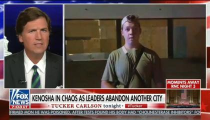 "Tucker Carlson: ""How shocked are we that 17-year-olds with rifles decided they had to maintain order when no one else would?"""