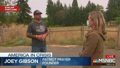 Joey Gibson MSNBC 8/31/20