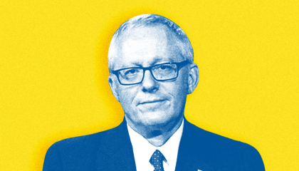Michael Caputo on yellow background