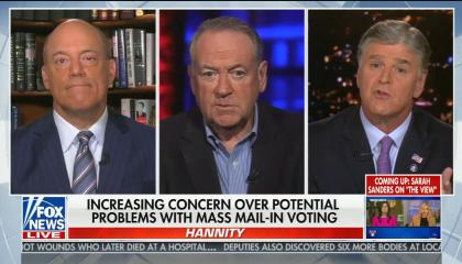 """chyron reads: """"increasing concern over potential problems with mass mail-in voting"""""""
