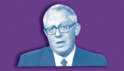 Michael Caputo on purple background