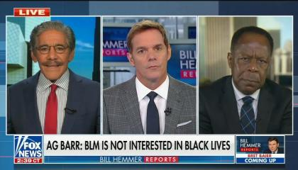 "Fox Guest: Bill Barr is ""right on"" that Blacks Lives Matter uses people as pawns"