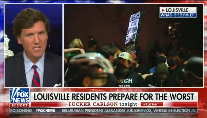 chyron reads: Louisville residents prepare for the worst