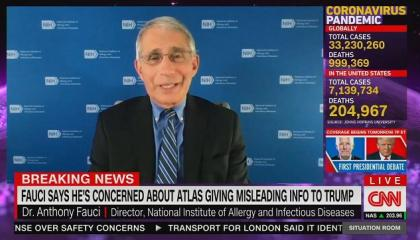 "Dr. Fauci says he's concerned about Fox News' ""outlandish"" COVID reporting"
