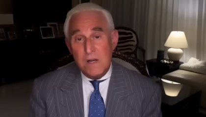 Roger Stone appears on QAnon channel