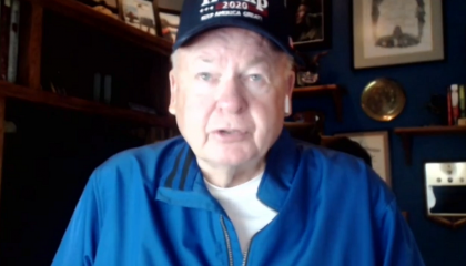 An image of Paul Vallely during an interview