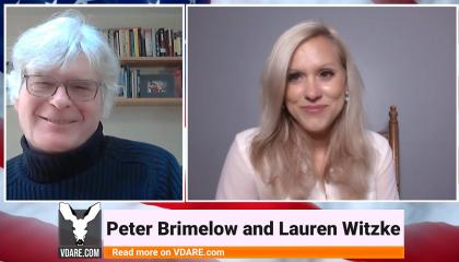 Peter Brimelow and Lauren Witzke