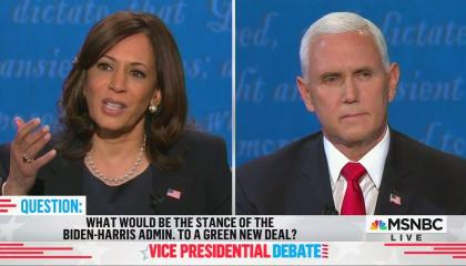 VP Debate Green New Deal Question