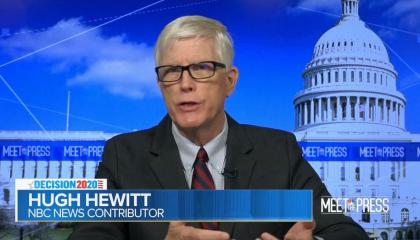 An image of Hugh Hewitt on Meet the Press