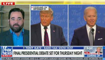 Fox and Friends Tony Katz makes fun of Joe Biden's stutter