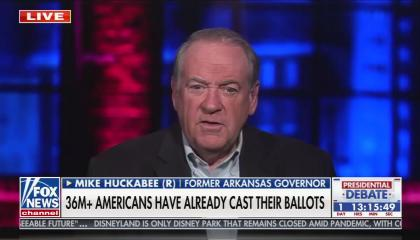 Fox contributor and former Arkansas governor Mike Huckabee
